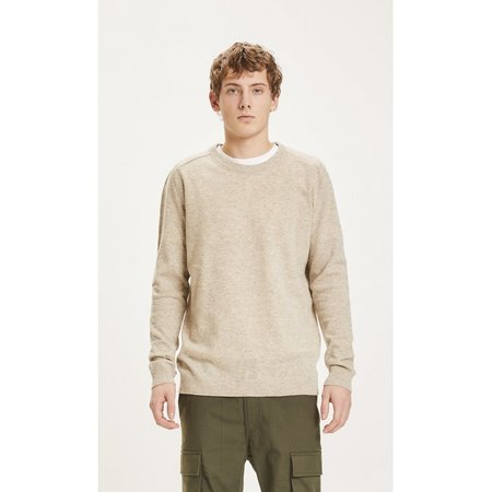 knowledge cotton apparel Field O-neck knit TOP - light grey