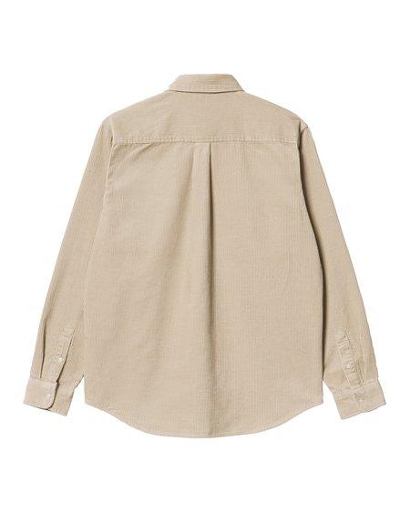 CARHARTT WIP LS Madison Cord Shirt - Wall/Black