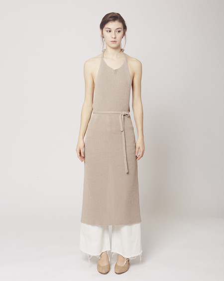 Baserange Knit apron dress libra