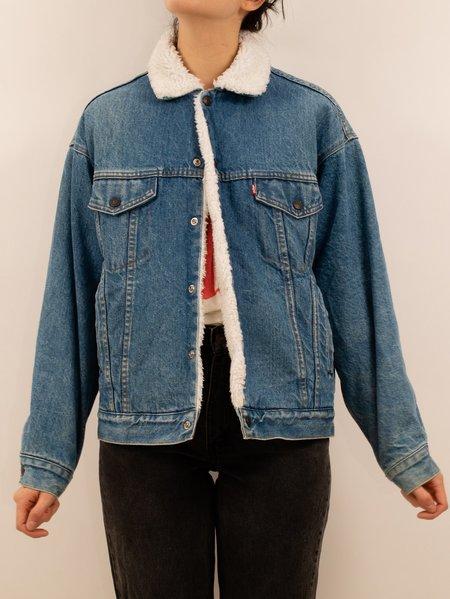 vintage 1980's/1990's Levi's mid-wash lined trucker jacket - mid-wash