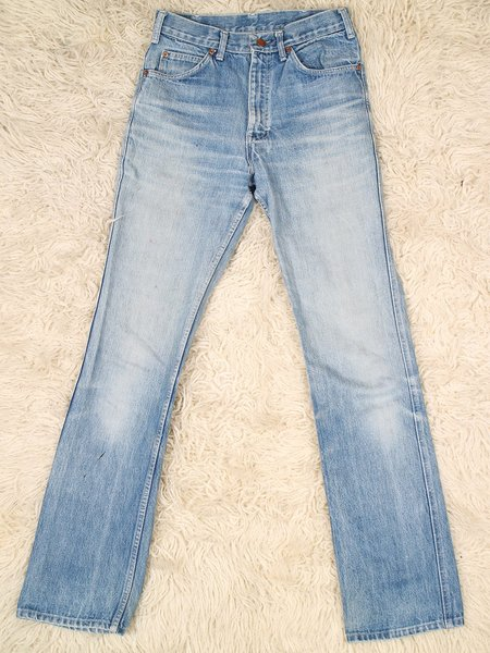 """Vintage 31"""" mid-wash seatcover long legs jeans - mid wash"""