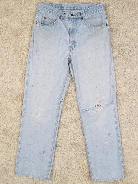 Vintage levi's orange tab paint spatter jeans - light wash