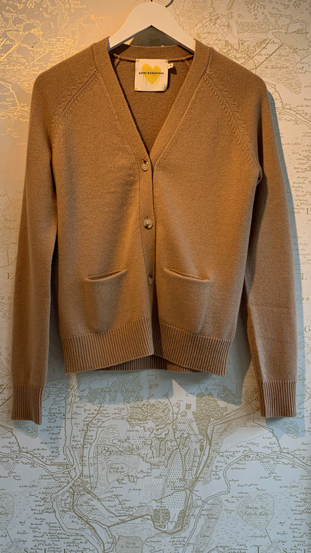 Kerri Rosenthal The Willy Patchwork Cashmere Cardigan - Brown