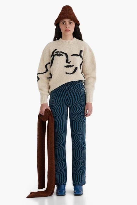 Paloma Wool Anita Face Jacquard Face Sweater - Ecru