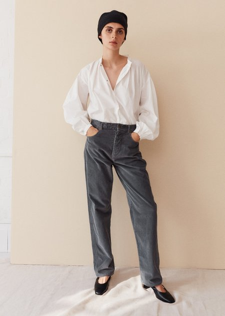 Caramel Slim Trousers - Dove Grey