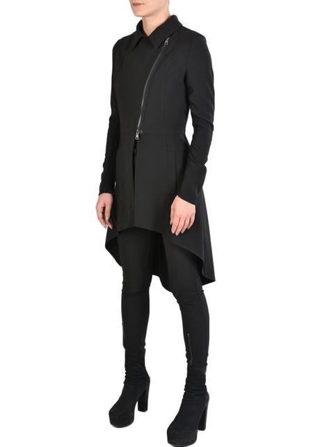 La Haine Asymmetric Stretch Zip Detail Nagem Jacket - Black