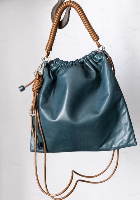 Methodology Large Pea Bag - Teal/Brown