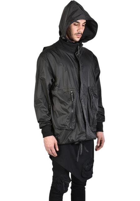 Unisex La Haine Oversized Hooded Chiave Bomber - Black