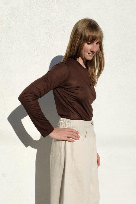 Baserange Long Sleeve Tee - Bamboo Jersey/Tactile