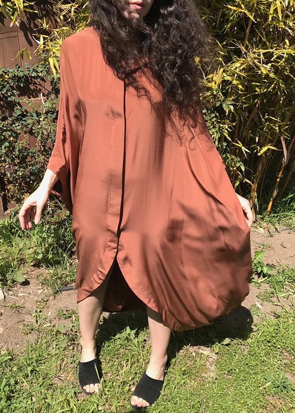 Vincetta Sequoia Draped Cocoon Caftan