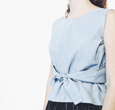 House Of 950 Denim Wrap Around Tank Chambray