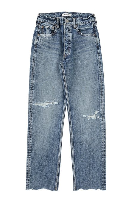 MOUSSY MV Morganfield Wide Straight Jeans - Blue