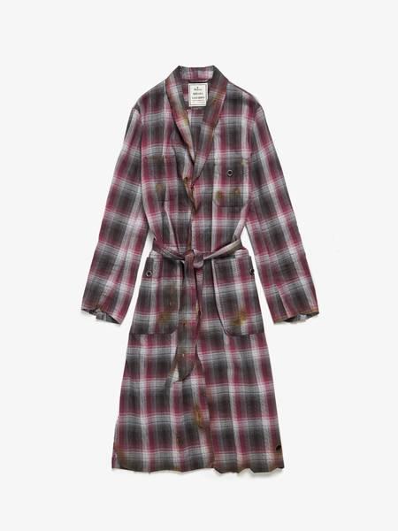 [Pre - Loved] Miharayasuhiro U No Size No Composition Sample Scorched Checked Robe