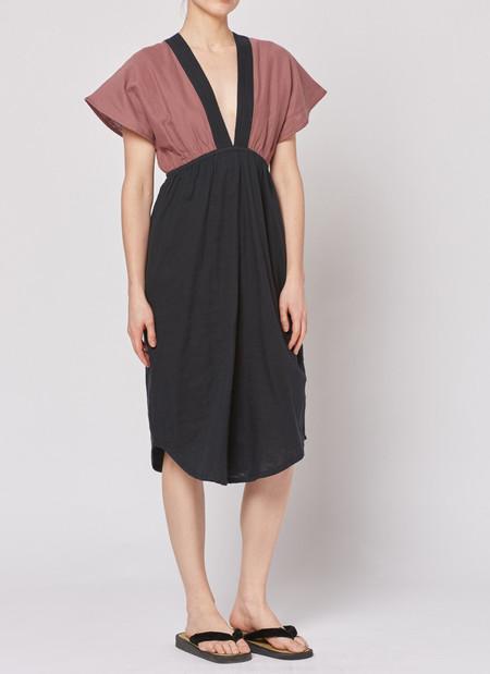 Built by Wendy Summer Dress - Black/Bordeaux