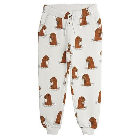 Kids Mini Rodini Child Sweatpants With Walrus Print - Grey
