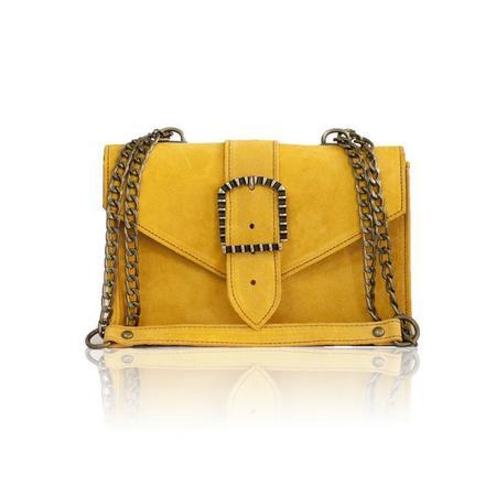 Bonendis KYRA SUEDE bag - yellow