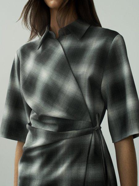Judith & Charles Noguchi Dress - Grey Check