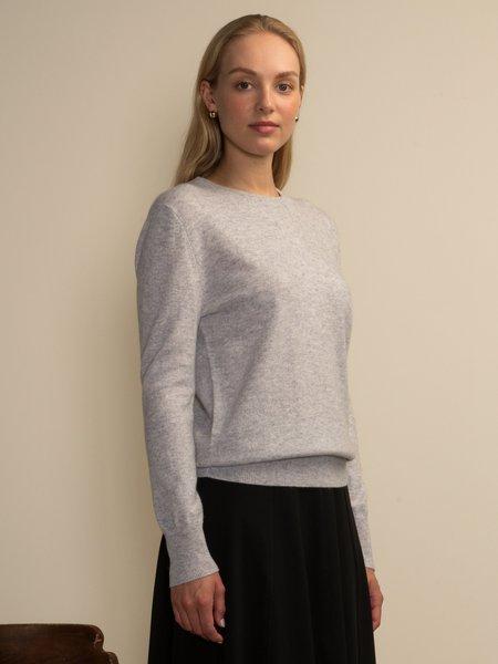 PURECASHMERE NYC Classic Crew Neck Sweater - Grey