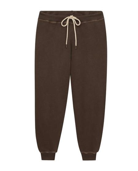 The Great. The Cropped Sweatpant - Chestnut