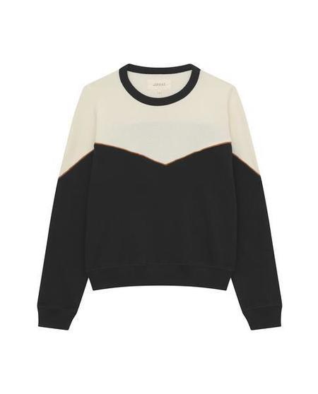 The Great. Western Teammate Sweatshirt - Black/Cream
