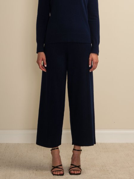 PURECASHMERE NYC Loose Fit Pants - Navy