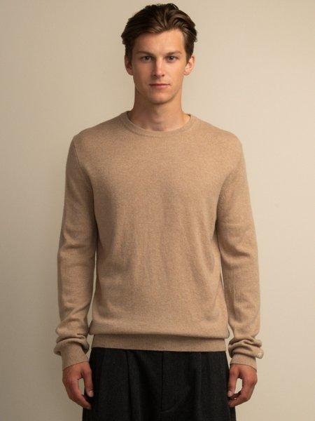 PURECASHMERE NYC Crew Neck Sweater - Camel