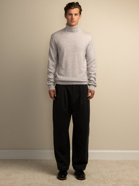 PURECASHMERE NYC Men Turtleneck Sweater - Grey