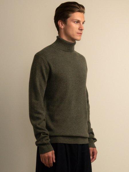 PURECASHMERE NYC Men Turtleneck Sweater - Military