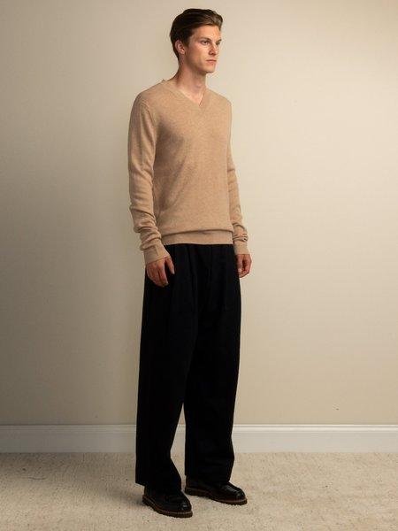 PURECASHMERE NYC V Neck Sweater - Camel