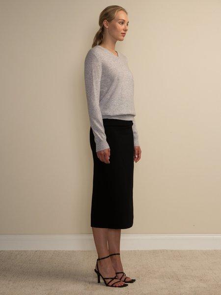 PURECASHMERE NYC V Neck Sweater - Grey
