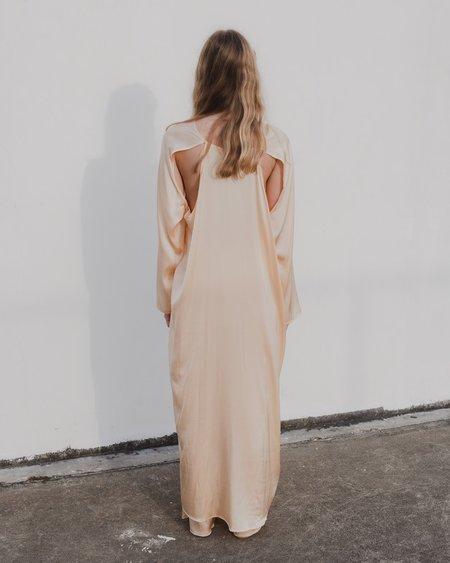 Baserange Zab Dress - Nod Peach