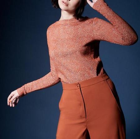 Melow Design Daria Top - Terra Cotta Tweed