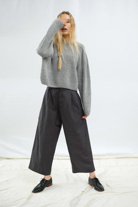 Micaela Greg Pleated Trouser - Charcoal