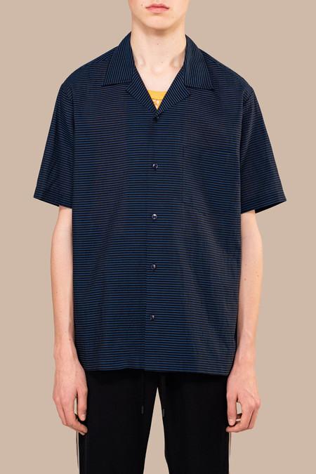 CMMN SWDN Boxy Seersucker Shirt - Navy