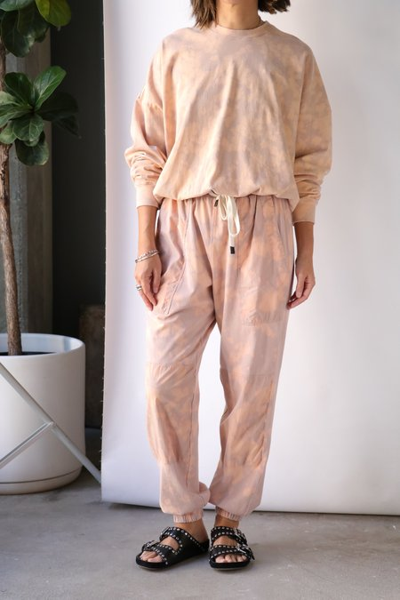 Bassike Motley Wide Sleeve Sweatshirt - Smoke Pink