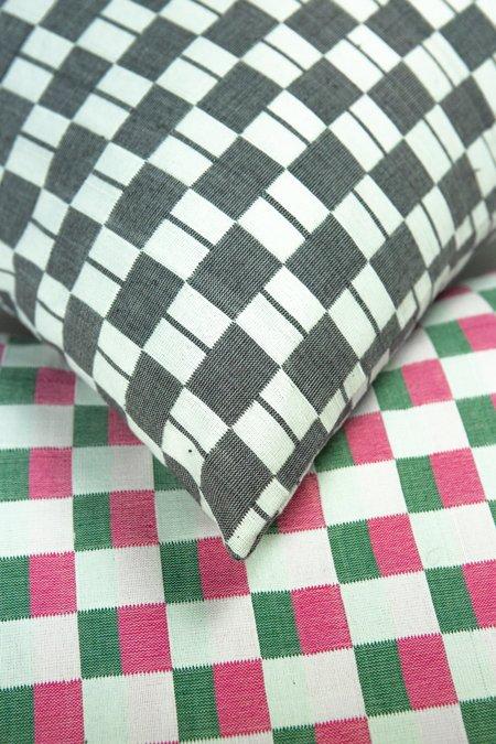 Suzani Pillow Checkered Pillow - Black/White