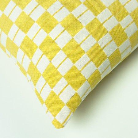 Suzani Pillow Checkered pillow - yellow/White