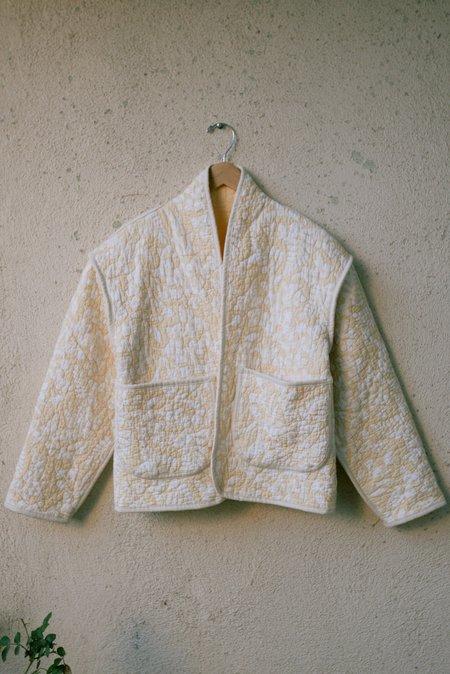 Jess Meany Juniper Cropped Coat - YELLOW Cornflower