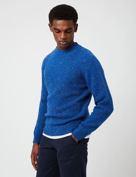 Bhode Supersoft Lambswool Jumper sweater - Blue