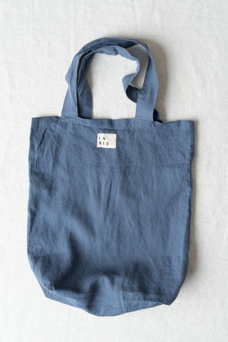 In Bed Linen Market Bag In French Blue