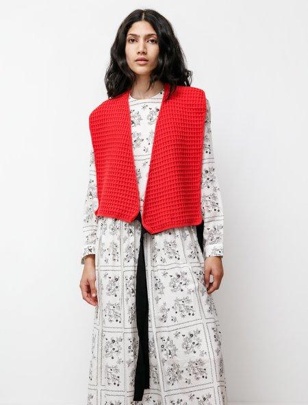 Sara Lanzi Womens Cache-Coeur vest - Lychee