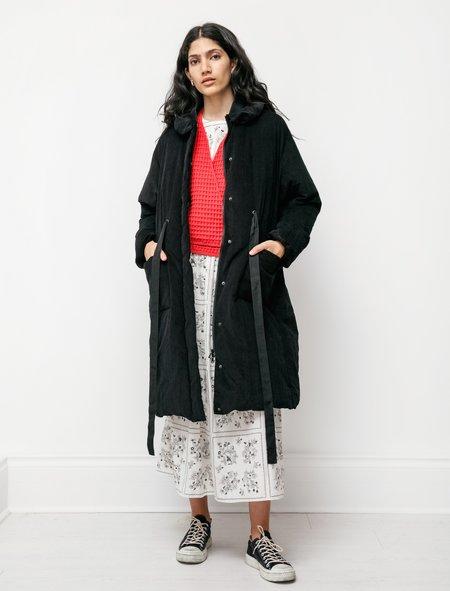 Sara Lanzi Womens Down Puffer Coat -  Black