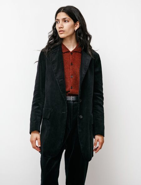 Margaret Howell Long 8 Wale Corduroy Jacket - Black