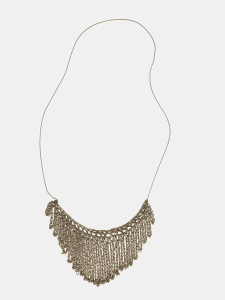 Arielle De Pinto String Fringe Necklace - Haze