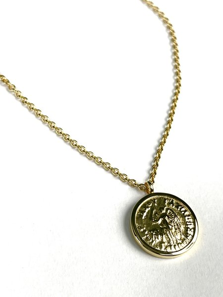 Tom Wood COIN PENDENT - 9K