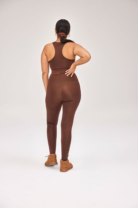 Girlfriend Collective Earth Compressive High-Rise Pocket Legging - Brown