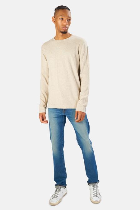 Blue&Cream Reade Long Sleeve T-Shirt - Pumice Stone