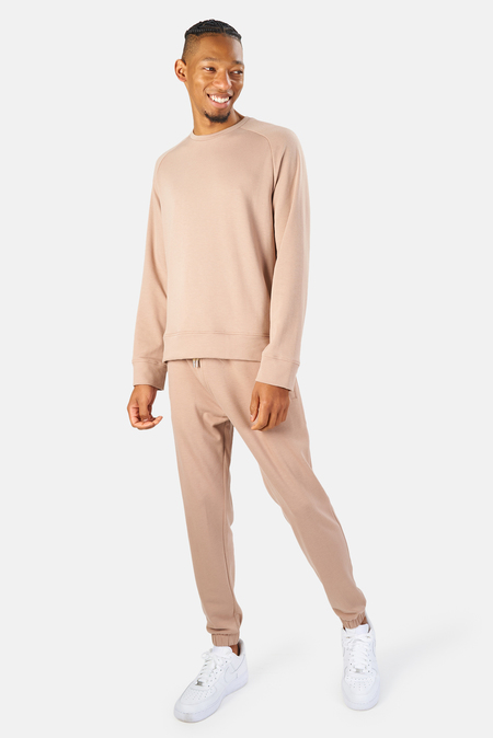 Blue&Cream Mason Crewneck Sweater - Soft Taupe