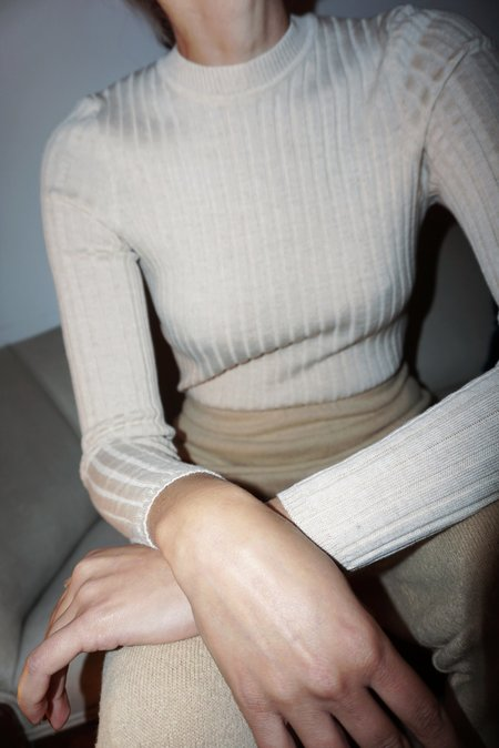 DIARTE VALLEY RIBBED CREWNECK sweater - IVORY