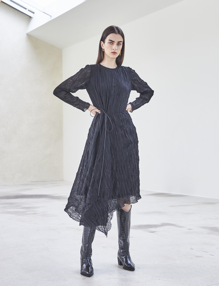 Maison De Ines WAIST SHIRRING DRESS - black